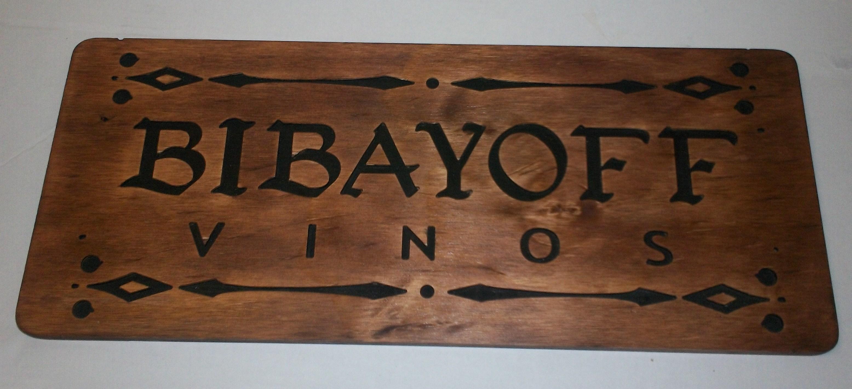 Letrero en madera grabada pintado entintado y barnizado 1 - Letreros en madera ...