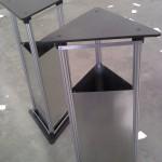 Mesas Basurero. Lámina con perfil extruído de Aluminio